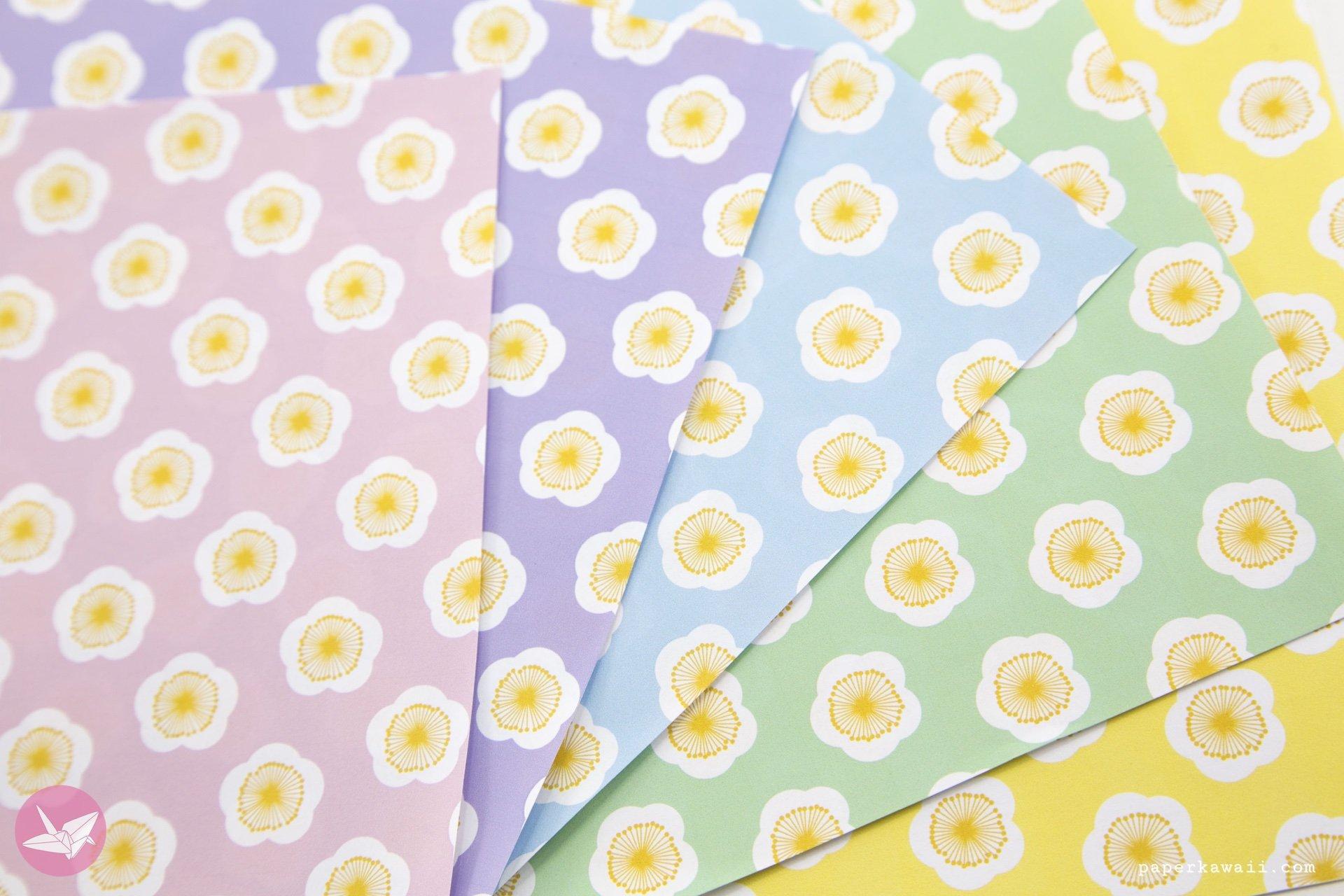 japanese blossom flower printable origami paper