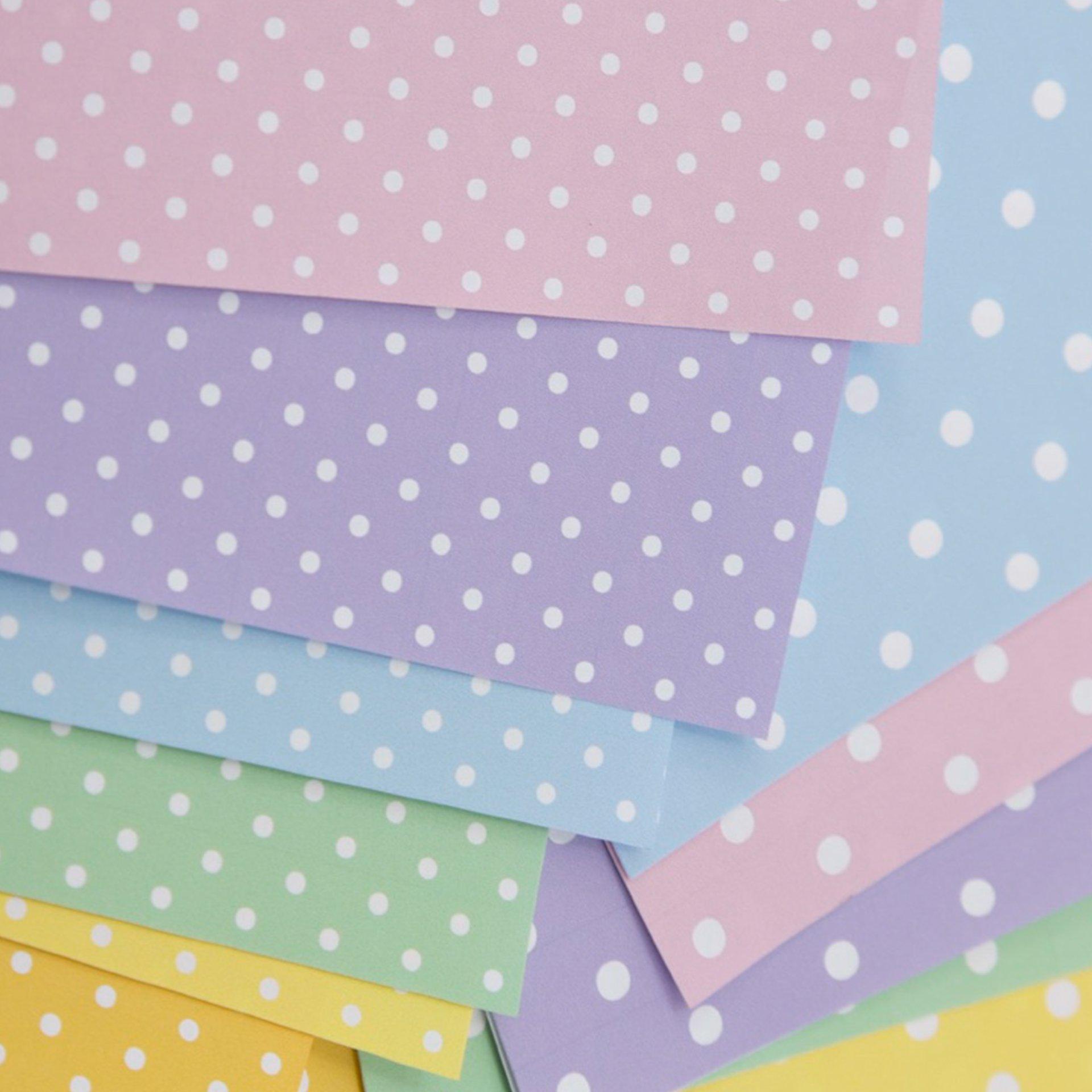 Polka Dot Pattern Printable Origami Paper - Paper Kawaii Shop - photo#37