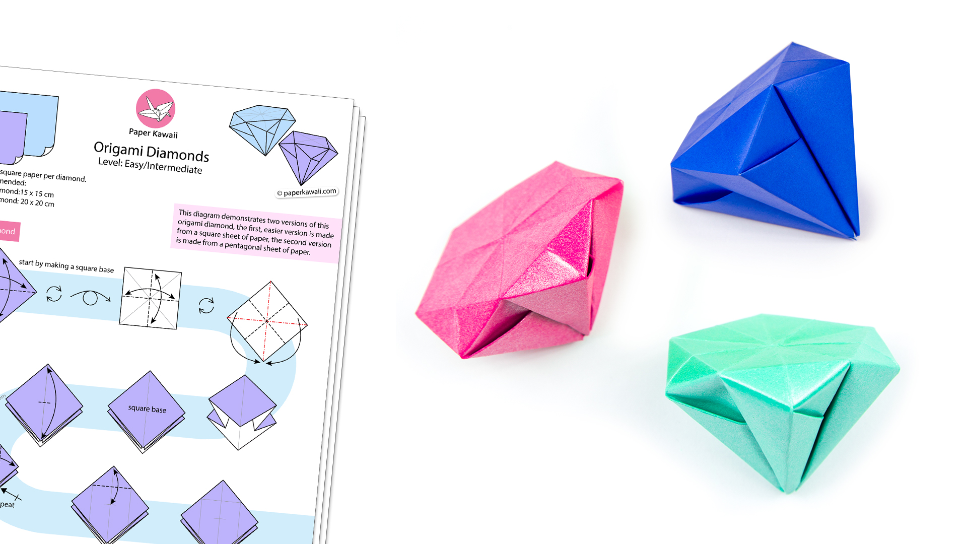 Origami Diamond Diagram