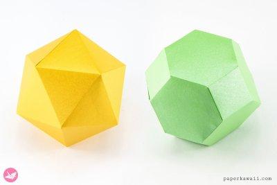 snub-octahedron-icosahedron-paper-kawaii
