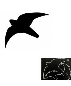 Greifvogel Silhouette schwarz