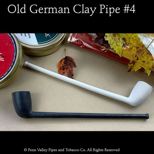 Old German Clay Tavern Pipe #4 at Pipeshoppe.com