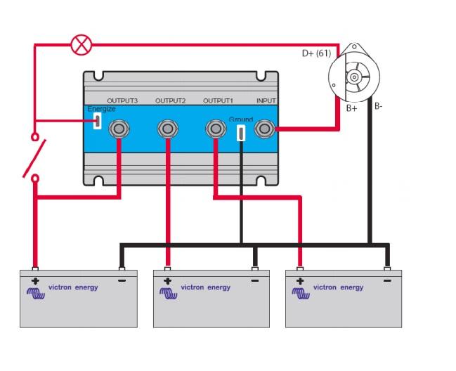 battery isolator wiring diagram on galvanic isolator wiring