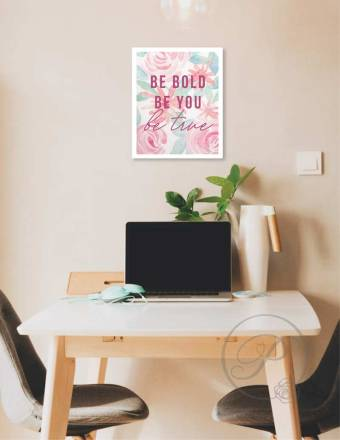 BE BOLD- BE YOU WALL ART LAYOUT