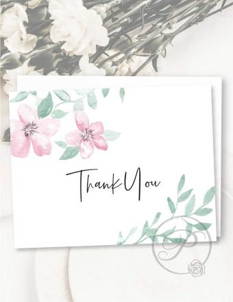 FLORAL THANK YOU CARD GREETING CARD LAYOUT