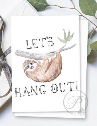 LETS HANG OUT GREETING CARD LAYOUT
