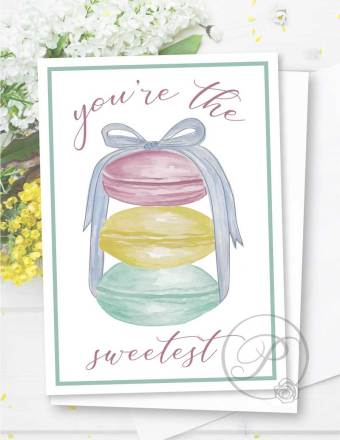 YOU ARE THE SWEETEST GREETING CARD LAYOUT