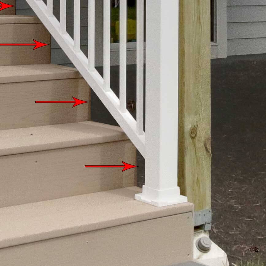 Pvc Stair Fascia Details And Definition Pro Deck Supply Terms | Graspable Handrail For Deck Stairs | Simple | Made 2X4 | 2 Foot | Code Compliant | Tall