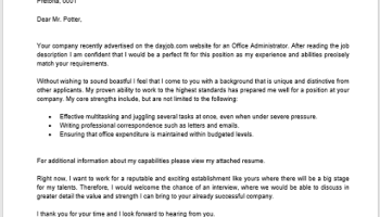 Operations Maintenance Cover Letter - Professional CV Zone   Templates