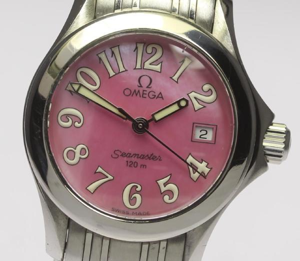 CLOSER: Omega Cima star 120 2581.66 QZ pink shell Lady's ...