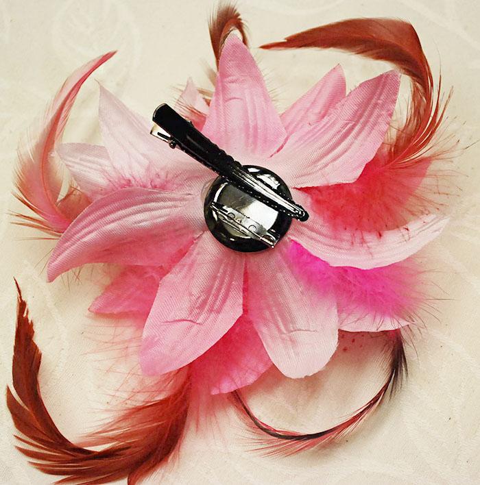 etizenya: 手工飾品粉紅色模糊胸花案件與安全別針和固定夾 | 日本樂天市場