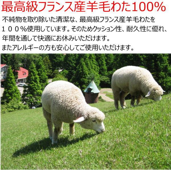 France Wool 100 Mattress Double Size 140 X 210 Cm Futon
