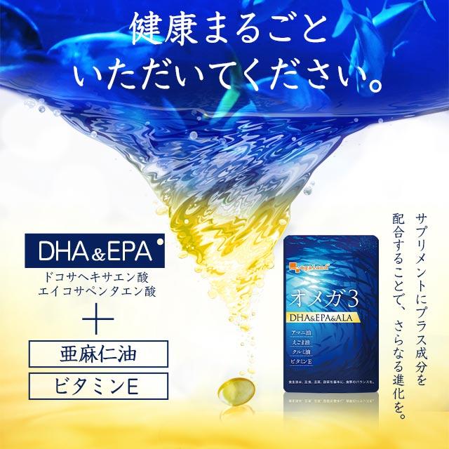 【楽天市場】オメガ3-DHA&EPA&α-リノレン酸サプリ(約1ヶ月分)送料 ...
