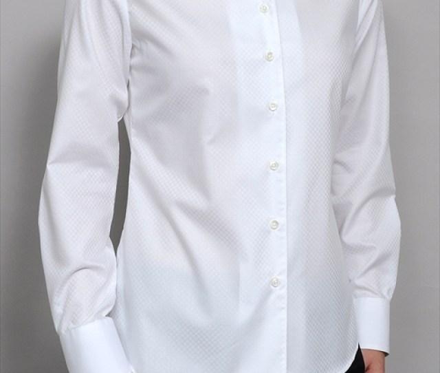 Ladies Shirts Ladies Natural Fit Shirt Long Sleeve Italian Collar Shirt Cropped T Shirt Premium