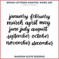 Word Art: Months, Days, Seasons shop.randomolive.com