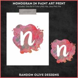 Monogram Prints - shop.randomolive.com