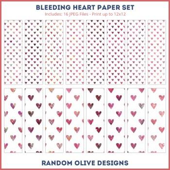 Heart Patterned Paper - shop.randomolive.com