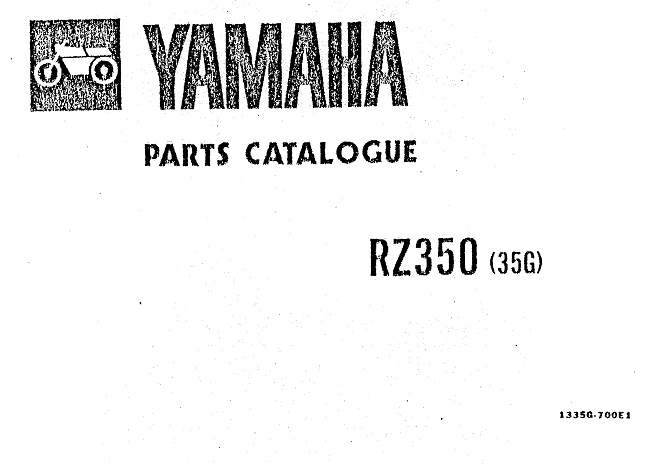RD350 parts and Download Manuals