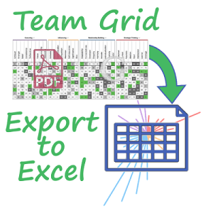 Team Grid export Gallup Access Excel spreadsheet cascade strengths