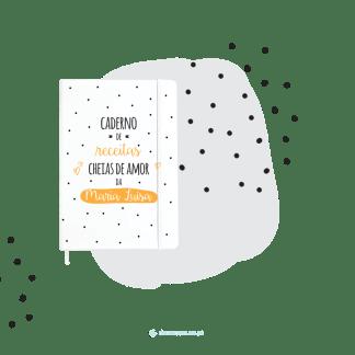 caderno de receitas com nome