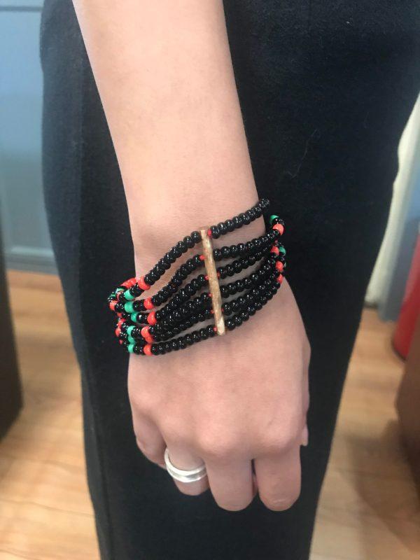 Rootsandleisure_Shop_Naga_Jewellery_Bracelet_BlackGreen