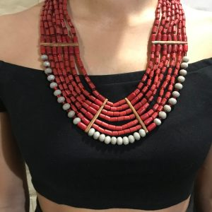 Rootsandleisure_Shop_Naga_Jewellery_Red Necklace