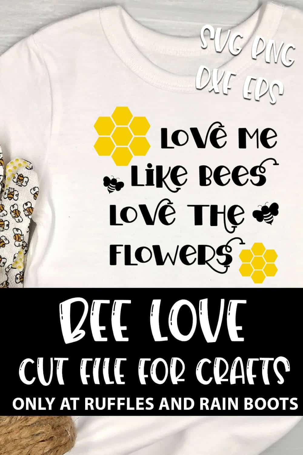 Download Love Like a Bee SVG Set for Cricut or Silhouette - Ruffles ...