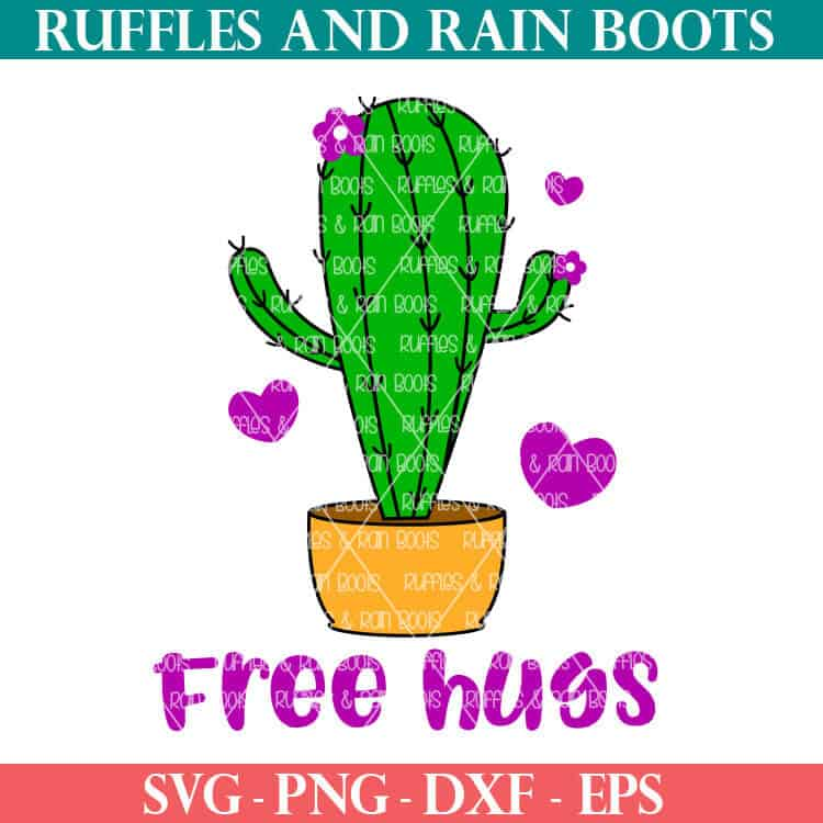 Download Free Hugs Cactus SVG Cut File Set for Cricut and ...