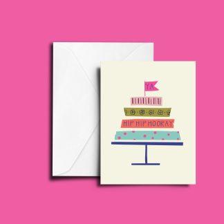 washi cake card