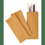 Bestecktasche Aus Strohpapier Mit Serviette Scheitlin Papier Ag