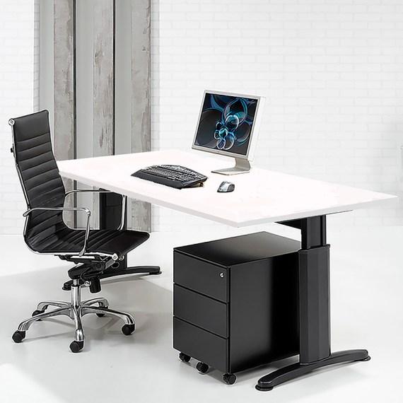 SIMAD T Bureau Frame Zwart Blad Wit