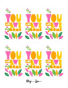 you are awesome gift tag