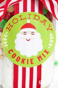 holiday cookie label