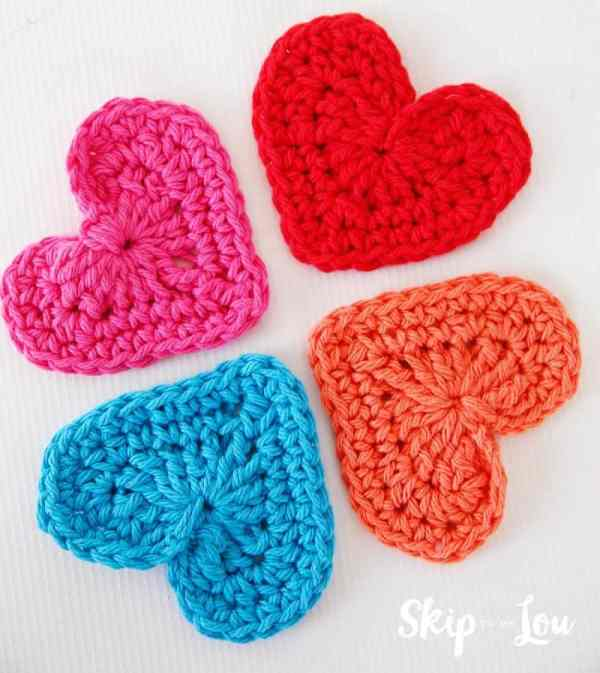 heart crochet applique