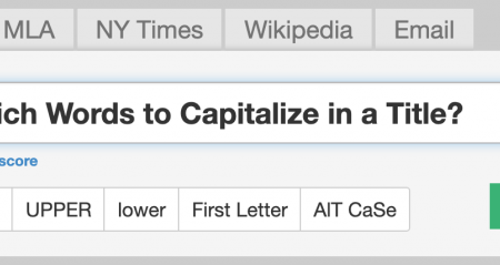 Ever Wondered Which Words to Capitalize in a Title? Use Capitalize My Title!