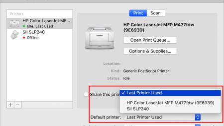 Here's How to Set a Default Printer on the Mac