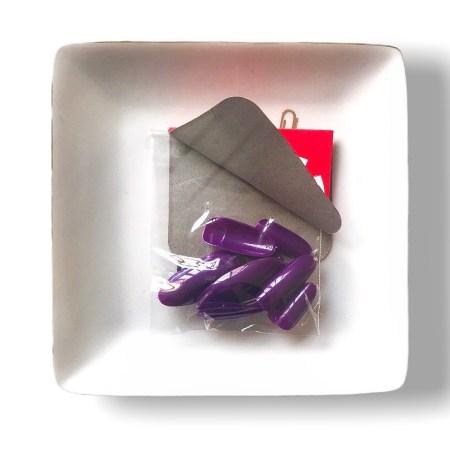 purple press on nails