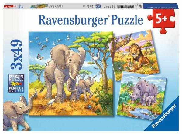 Wilde Giganten 3x49p-3 X 49 Teile | Ravensburger Spielverlag