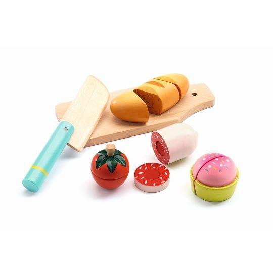 Rollenspiel Kinderküche: Mittagessen zum schneiden   Djeco