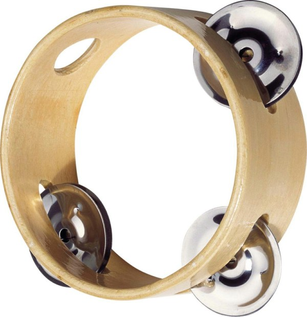 Tamburin mit 3 Schellen   Gollnest