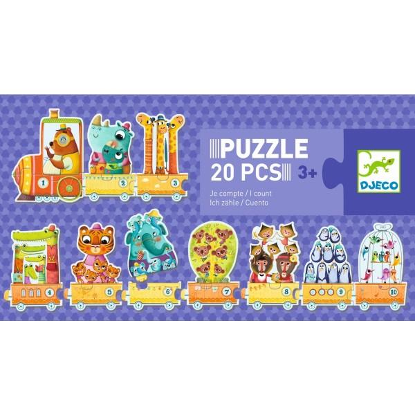 Lernspiel - Puzzle duo/trio: Erste Zählen | Djeco