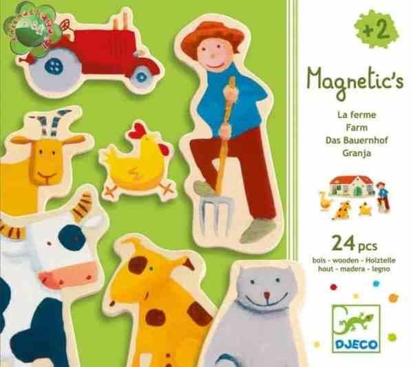 Holz Magnete: Farm | Djeco