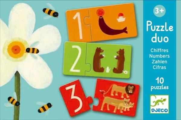 Lernspiel - Puzzle duo/trio: Zahlen | Djeco