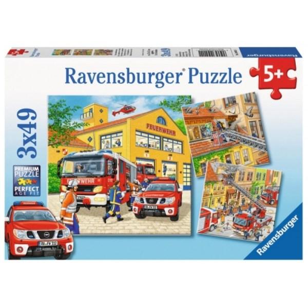 Feuerwehreinsatz 3x49p-3 X 49 Teile | Ravensburger Spielverlag