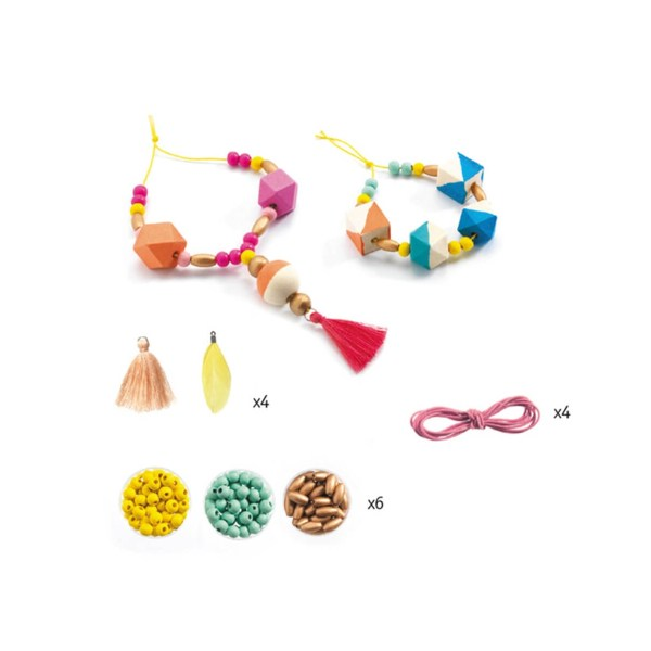 Schmuck basteln: Perlen und Würfel | Djeco