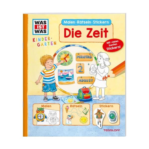 WAS IST WAS Kindergarten Malen Rätseln Stickern Die Zeit   Tessloff Verlag