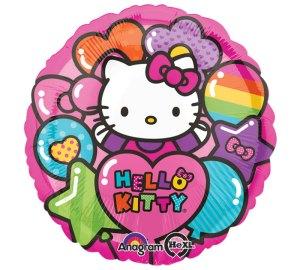 Standard Hello Kitty Regenbogen Folienballon S60 verpackt 43 cm | Amscan
