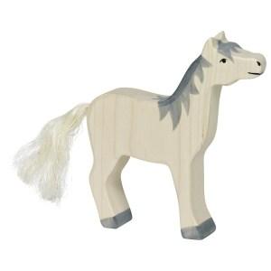Pferd, Kopf hoch, graue Mähne | Gollnest