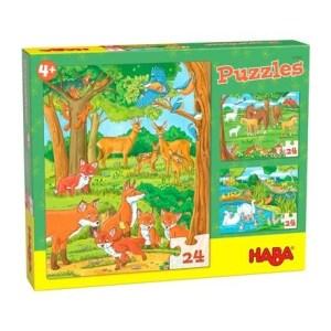 Puzzles Tierfamilien   Haba