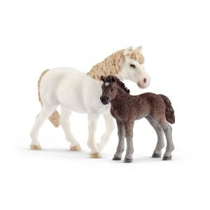 Pony Stute und Fohlen   Schleich